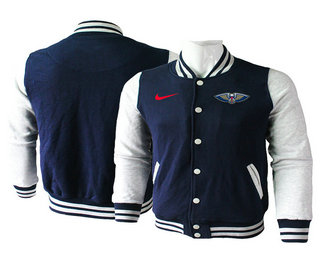 Men's New Orleans Pelicans Black Stitched NBA Jacket