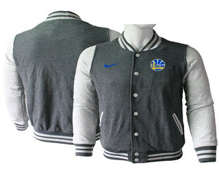 Men's Golden State Warriors Gray Stitched NBA Jacket