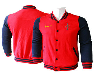 Men's Cleveland Cavaliers Red Stitched NBA Jacket