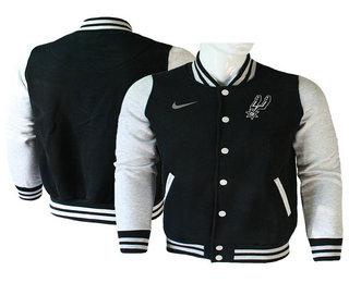 Men's San Antonio Spurs Black Stitched NBA Jacket