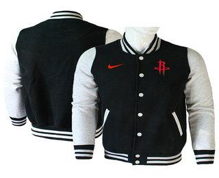 Men's Houston Rockets Nike Black Stitched NBA Jacket