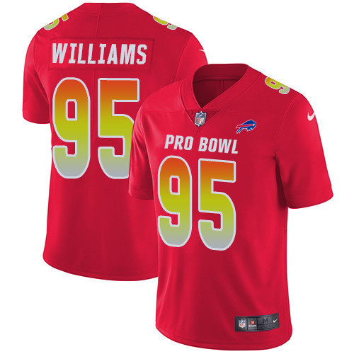 Nike Buffalo Bills #95 Kyle Williams Red Men's Stitched NFL Limited AFC 2019 Pro Bowl Jersey