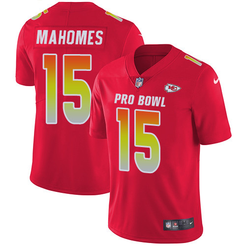 Nike Kansas City Chiefs #15 Patrick Mahomes Red Men's Stitched NFL Limited AFC 2019 Pro Bowl Jersey