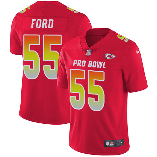 Nike Kansas City Chiefs #55 Dee Ford Red Men's Stitched NFL Limited AFC 2019 Pro Bowl Jersey