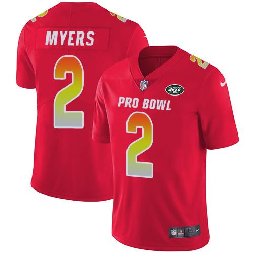 Nike New York Jets #2 Jason Myers Red Men's Stitched NFL Limited AFC 2019 Pro Bowl Jersey