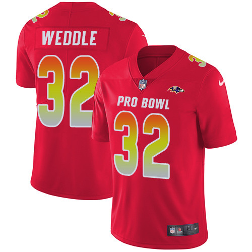 Nike Baltimore Ravens #32 Eric Weddle Red Men's Stitched NFL Limited AFC 2019 Pro Bowl Jersey