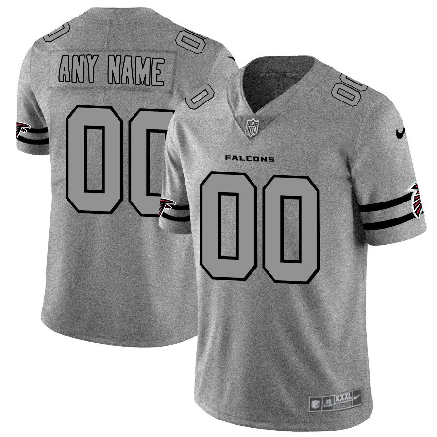 Nike Falcons Customized 2019 Gray Gridiron Gray Vapor Untouchable Limited Jersey