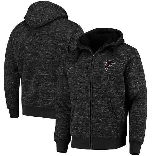 Men's Atlanta Falcons G-III Sports by Carl Banks Heathered Black Discovery Sherpa Full-Zip Jacket