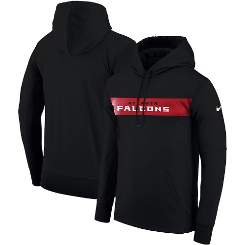 Men's Atlanta Falcons Nike Black Sideline Team Performance Pullover Hoodie