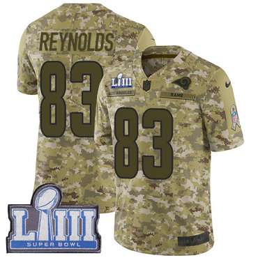 Men's Los Angeles Rams #83 Josh Reynolds Camo Nike NFL 2018 Salute to Service Super Bowl LIII Bound Limited Jersey