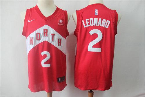 Men's Toronto Raptors 2 Kawhi Leonard Nike Red 2018-19 Swingman Earned Edition Jersey