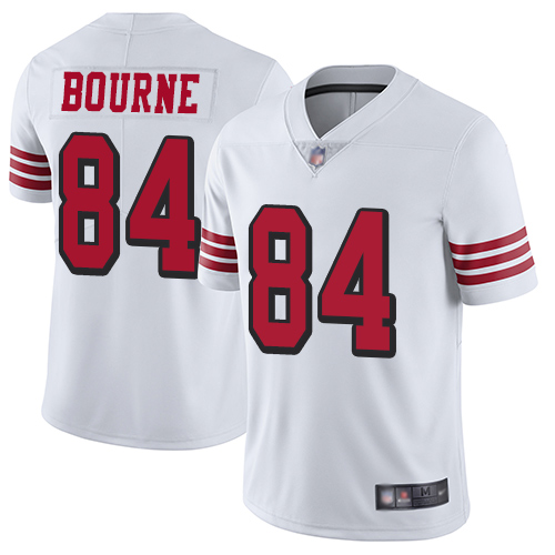 San Francisco 49ers Youth #84 Kendrick Bourne White Limited Color Rush Vapor Untouchable Jersey