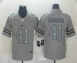 Men's New Orleans Saints #41 Alvin Kamara 2019 Gray Gridiron Vapor Untouchable Stitched NFL Nike Limited Jersey