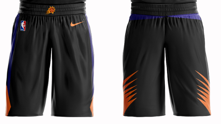 Men's Phoenix Suns Nike Black Short