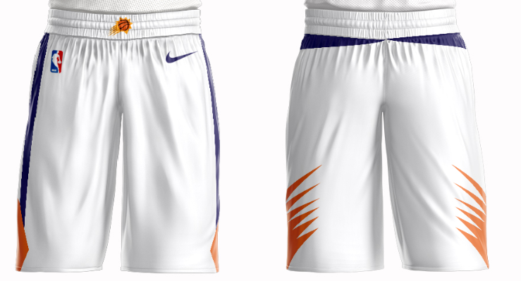 Men's Phoenix Suns Nike White Short
