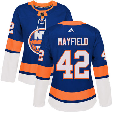 Women's New York Islanders #42 Scott Mayfield Adidas Royal Blue Home Authentic NHL Jersey