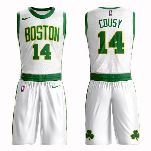 Boston Celtics #14 Bob Cousy White Nike NBA Men's City Edition Suit Authentic Jersey