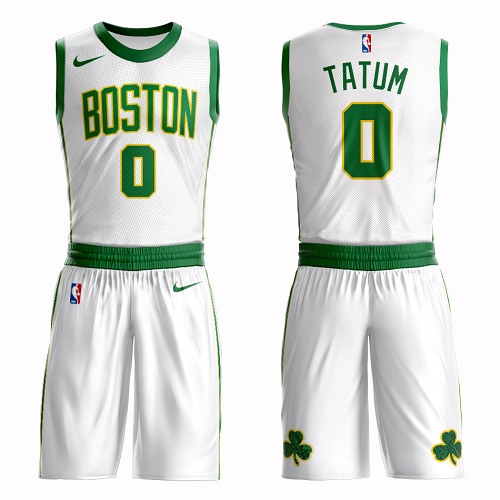 Boston Celtics#0 Jayson Tatum White Nike NBA Men's City Edition Suit AuthenticJersey