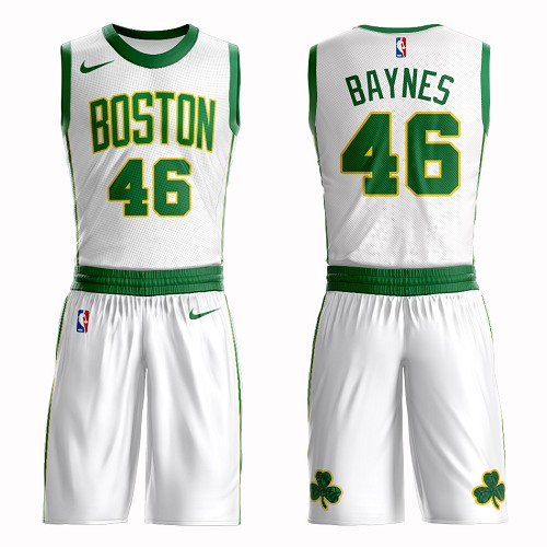 Boston Celtics #46 Aron Baynes White Nike NBA Men's City Edition Suit Authentic Jersey