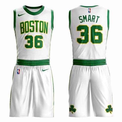 Boston Celtics #36 Marcus Smart White Nike NBA Men's City Authentic Edition Suit Jersey