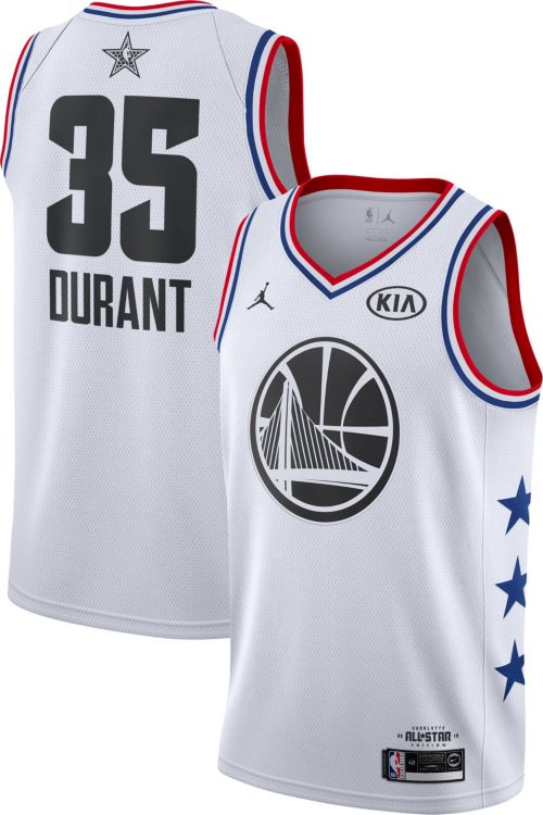 Jordan Men's 2019 NBA All-Star Game #35 Kevin Durant White Dri-FIT Swingman Jersey
