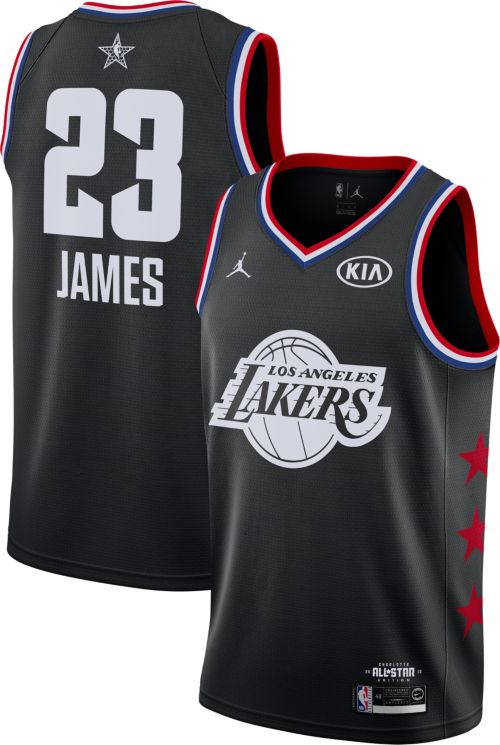 Jordan Men's 2019 NBA All-Star Game #23 LeBron James Black Dri-FIT Swingman Jersey