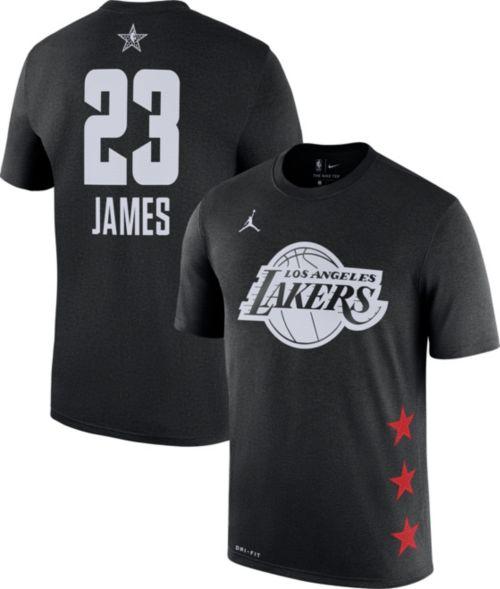Jordan Men's 2019 NBA All-Star Game #23 LeBron James Dri-FIT Black T-Shirt