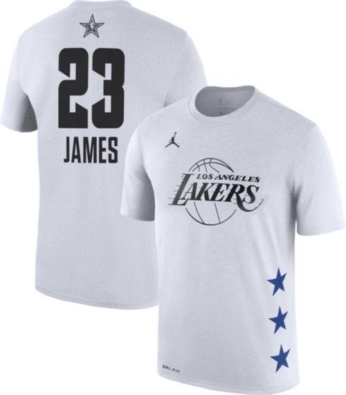 Jordan Men's 2019 NBA All-Star Game #23 LeBron James Dri-FIT White T-Shirt
