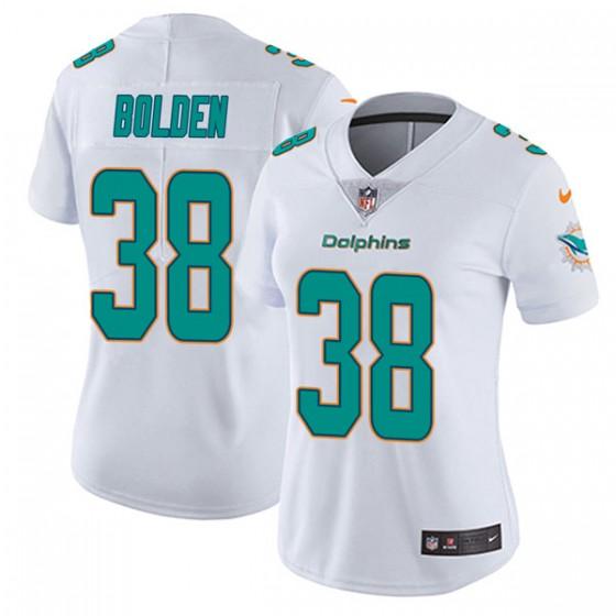 Women's Miami Dolphins #38 Brandon Bolden Nike limited Vapor Untouchable White Jersey