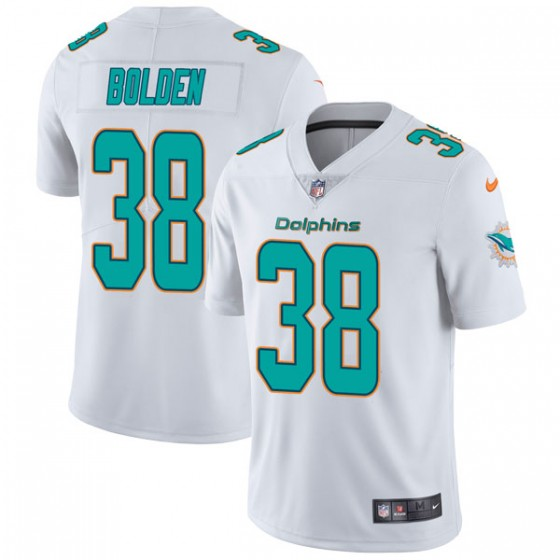Youth Miami Dolphins #38 Brandon Bolden Nike limited Vapor Untouchable White Jersey