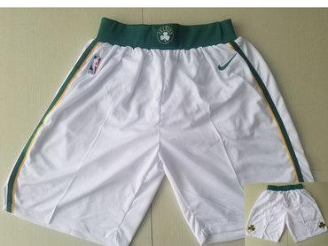Men's Boston Celtics White Nike NBA Shorts
