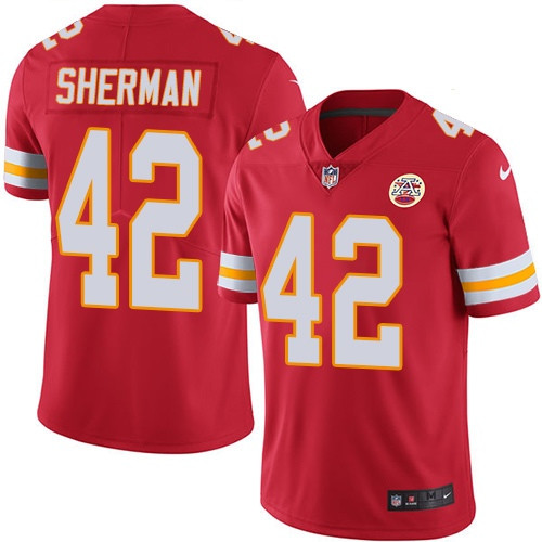 Nike Chiefs #42 Anthony Sherman Red Team Color Men's Stitched NFL Vapor Untouchable Limited Jersey