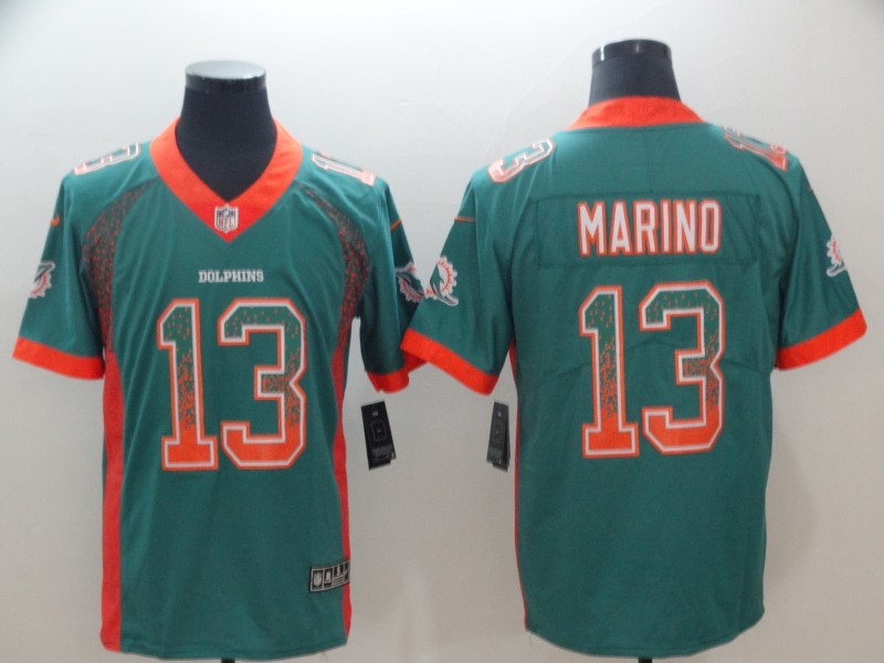 Nike Dolphins #13 Dan Marino Aqua Green Team Color Men's Stitched NFL Vapor Untouchable Limited Jersey