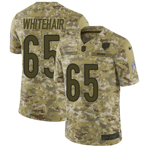 Men's Nike Chicago Bears #65 Cody Whitehair Camo Stitched Football Limited 2018 Salute To Service Jersey