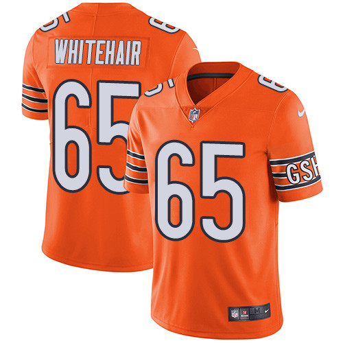 Men's Nike Chicago Bears #65 Cody Whitehair Orange Stitched Football Limited Rush Jersey
