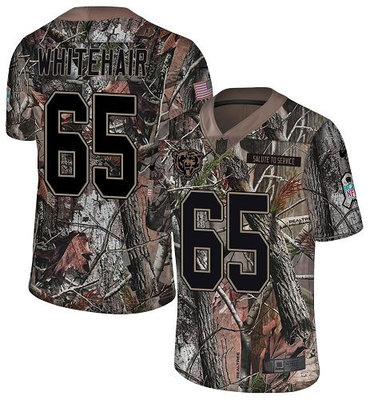 Men's Nike Chicago Bears #65 Cody Whitehair Camo Stitched Football Limited Rush Realtree Jersey