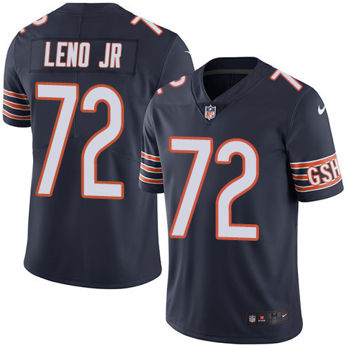 Men's Nike Chicago Bears #72 Charles Leno Jr Navy Blue Team Color Stitched Football Vapor Untouchable Limited Jersey