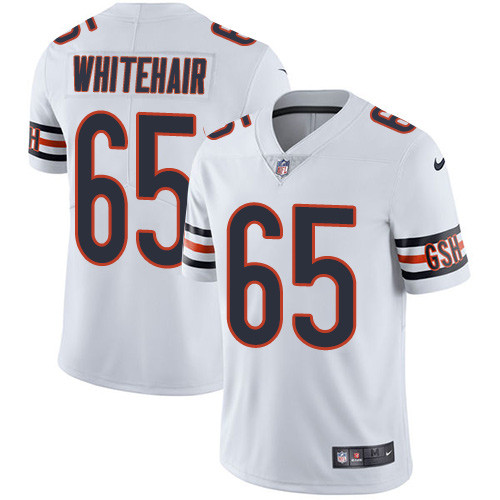 Men's Nike Chicago Bears #65 Cody Whitehair White Stitched Football Vapor Untouchable Limited Jersey