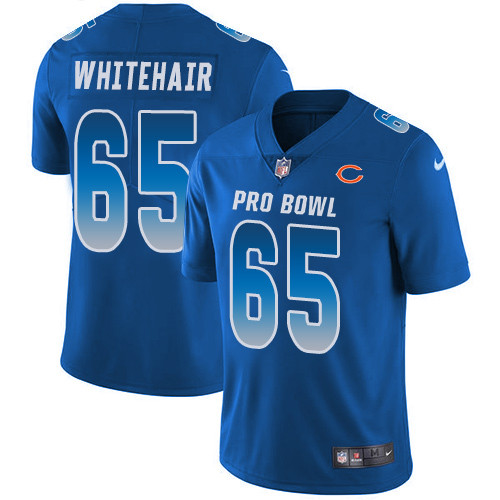 Men's Nike Chicago Bears #65 Cody Whitehair Royal Stitched Football Limited NFC 2019 Pro Bowl Jersey