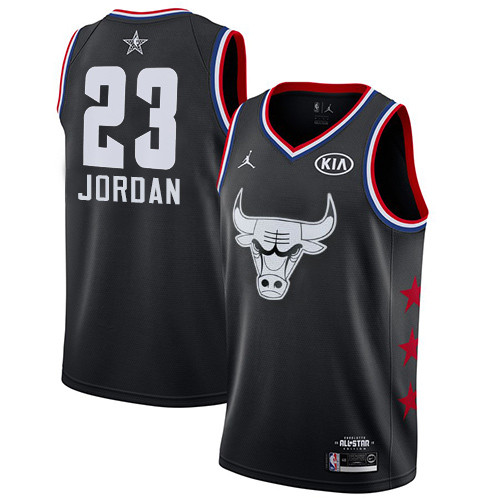 Bulls #23 Michael Jordan Black Basketball Jordan Swingman 2019 All-Star Game Jersey