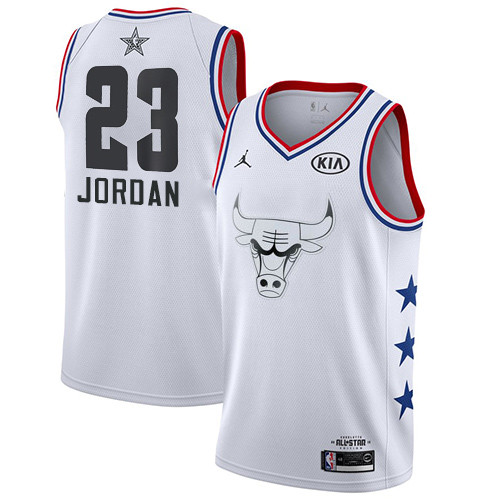 Bulls #23 Michael Jordan White Basketball Jordan Swingman 2019 All-Star Game Jersey