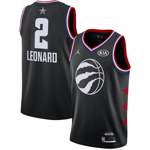 Raptors #2 Kawhi Leonard Black Basketball Jordan Swingman 2019 All-Star Game Jersey