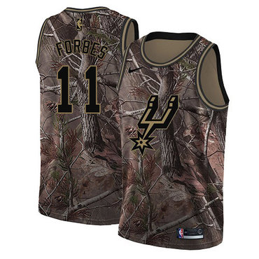 Men's Nike San Antonio Spurs #11 Bryn Forbes Camo Basketball Swingman Realtree Collection Jersey