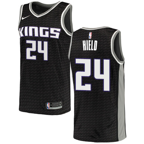 Women's Sacramento Kings #24 Buddy Hield Black Basketball Swingman Statement Edition Jersey