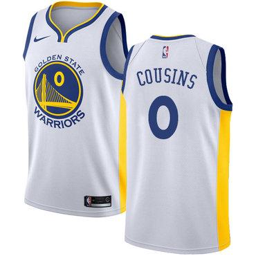 Men's Nike Golden StateWarriors #0 DeMarcus Cousins White NBA Swingman Association Edition Jersey