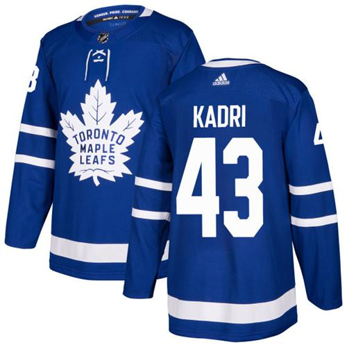 Youth Adidas Maple Leafs #43 Nazem Kadri Blue Home Authentic Stitched NHL Jersey
