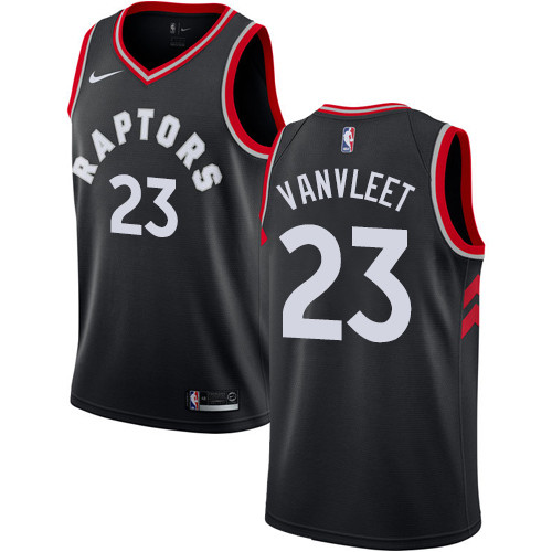 Youth Toronto Raptors #23 Fred VanVleet Black Basketball Swingman Statement Edition Jersey