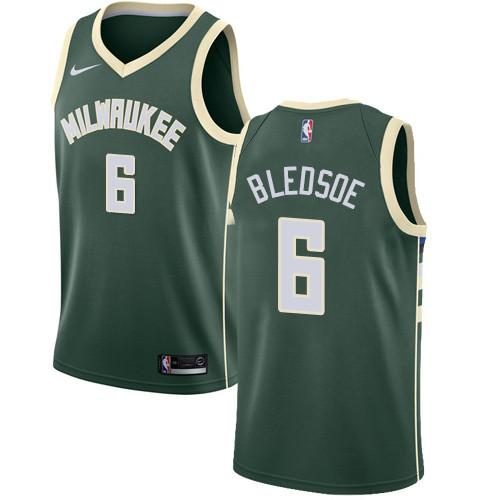 Youth Milwaukee Bucks #6 Eric Bledsoe Green Basketball Swingman Icon Edition Jersey
