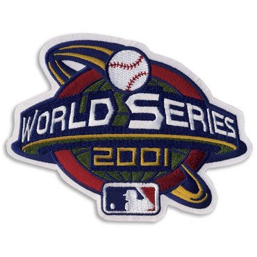 2001 MLB world series championship patch