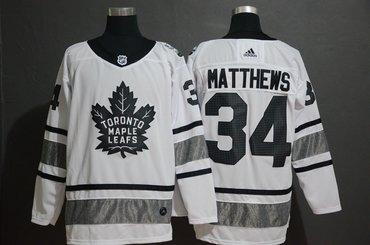 Men's Toronto Maple Leafs 34 Auston Matthews White 2019 NHL All-Star Adidas Jersey